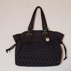 Dooney and bourke denim tote purse